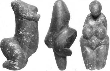 [figurines from the Western European Gravettian]
